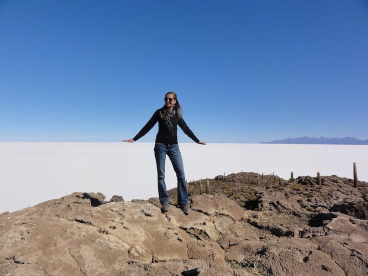 El Salar de Uyuni in Bolivia - The forced perspective photography capital of the world.