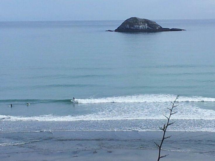 Surfers at Muriwai