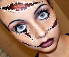 Halloween Makeup – Creepy Dolls – Beauty and Make Up Pictures