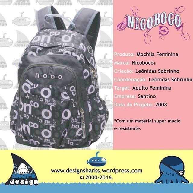 Linda mochila Nicoboco feminina. Não sobrou nem pra contar história.  #backpack #mochilas #surf #nicoboco #schoolbags #productdesign #projectdesign #graphicdesign #kingleonidas #leonidasking #leonidasdesigner #sharks