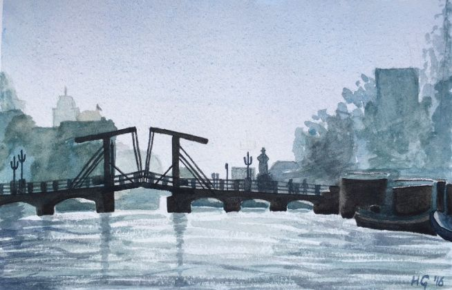 """A bridge in Amsterdam"" by Yelena"