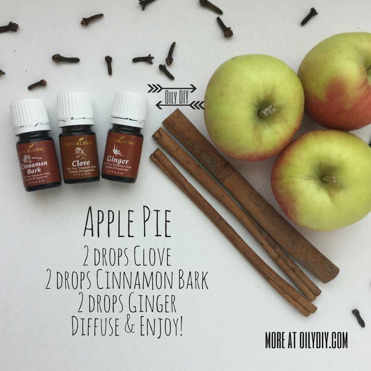 Apple Pie www.oilydiy.com #oilydiy #diy #youngliving #essentialoils #yleo #diffuser #fall #applepie