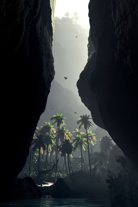 : Jurassic Parks, Jurassicpark, Jungles, Palms Trees, Beautiful, Caves, Places, Travel, Heavens