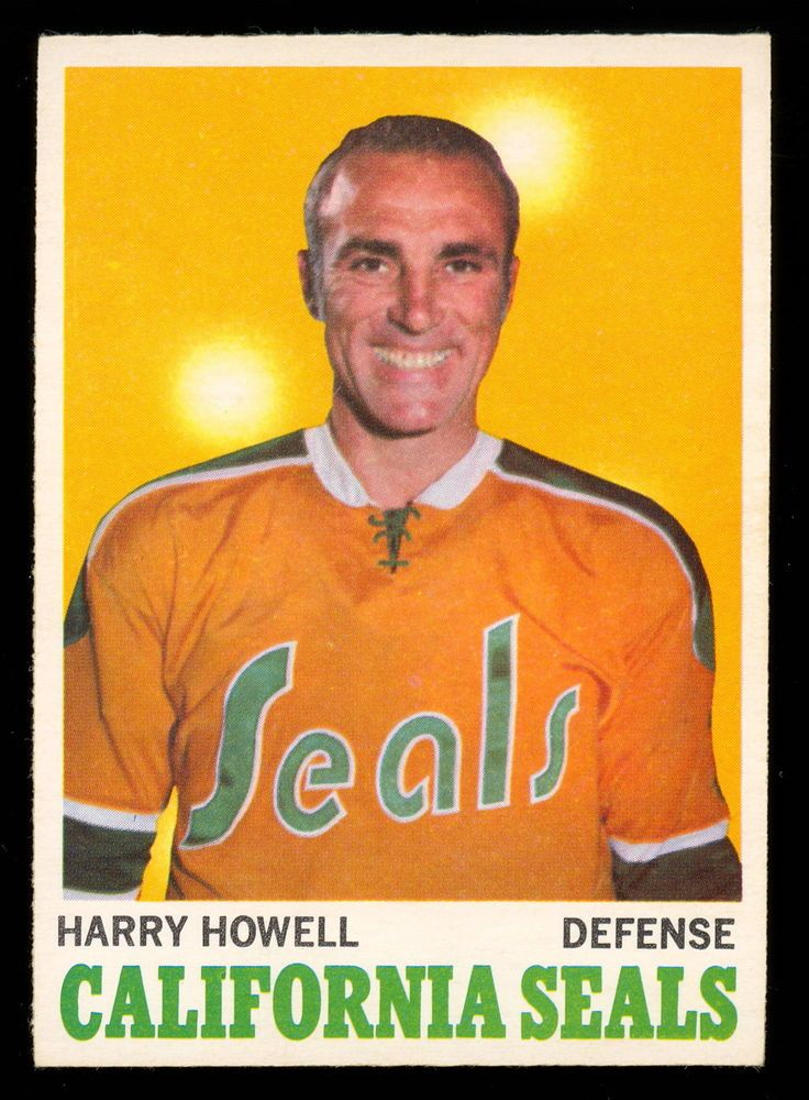 1970 71 Topps 72 HARRY HOWELL NM CALIFORNIA GOLDEN SEALS HOCKEY CARD #CALIFORNIASEALS