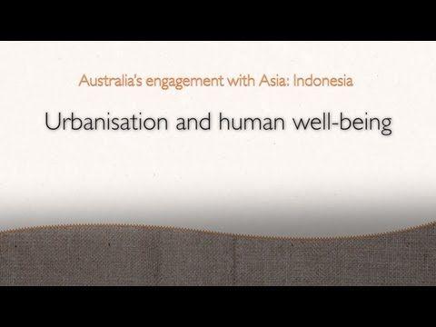 Urbanisation and human wellbeing (Years 8, 10)