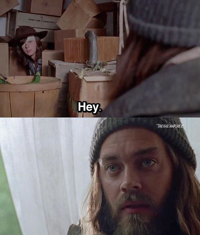 The Walking Dead S7E05 'Go Getters' - Jesus (Tom Payne) and Carl (Chandler Riggs) both have motive to find out where the Saviors are going and where Negan is. #Jesus #TheWalkingDead