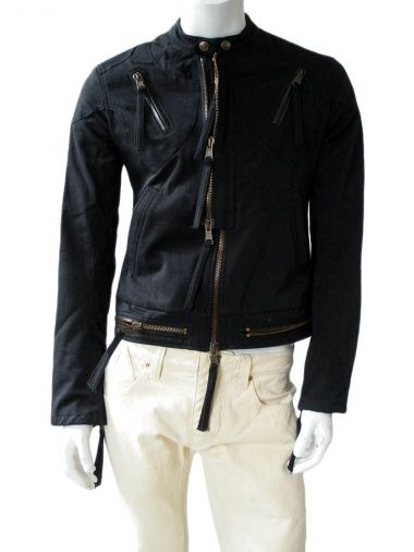 Jacket with zipper 100% Cotton by Against my killer - Clothing Men Blousons On Sale  EUR 149.00