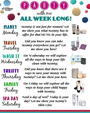 Scentsy Party With Me All Week On Facebook