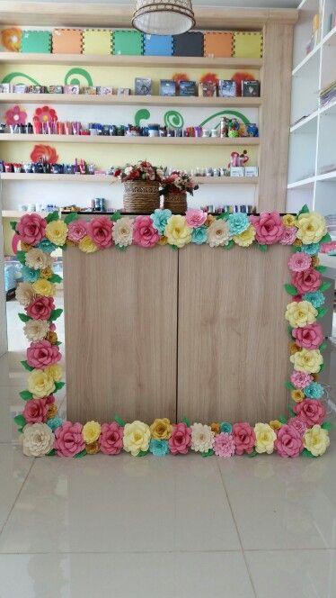 25 melhores ideias sobre flores de papel no pinterest - Papel decorado para manualidades ...