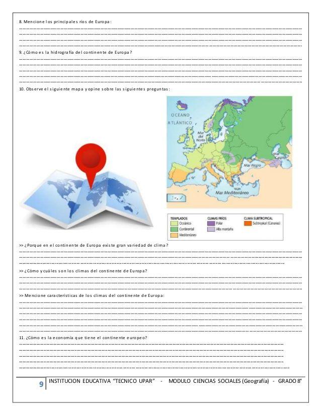 """9 INSTITUCION EDUCATIVA """"TECNICO UPAR"""" - MODULO CIENCIAS SOCIALES (Geografía)…"""