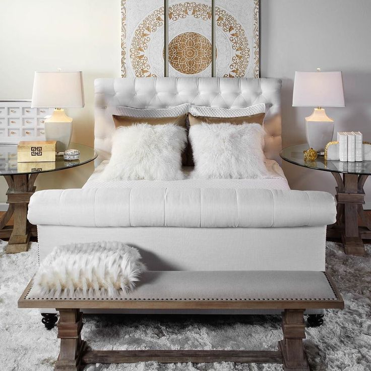 Now on sale: infusing a traditional sleigh bed silhouette, our Ainsley bed continues the style with contemporary details.