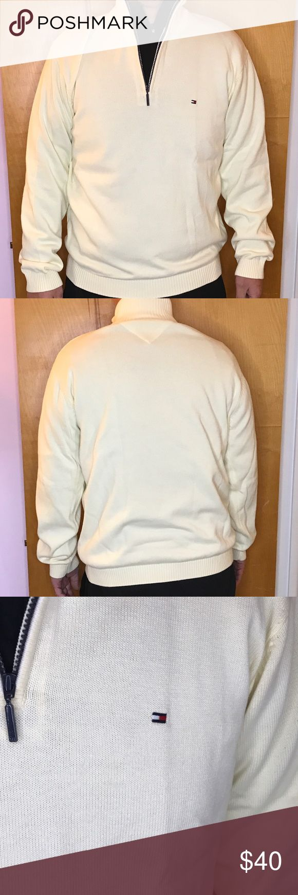 NEW MENS Tommy Hilfiger Half Zip Sweater A brand new MENS half zip sweater in cream. Perfect for night out or just a casual day out. SIZE: LARGE 🚫No Trades🚫 Tommy Hilfiger Sweaters Zip Up