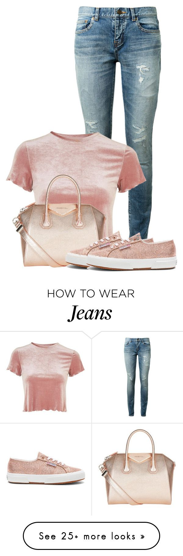 """Pastel look"" by sally92 on Polyvore featuring Yves Saint Laurent, Topshop, Givenchy, Superga and pastels"