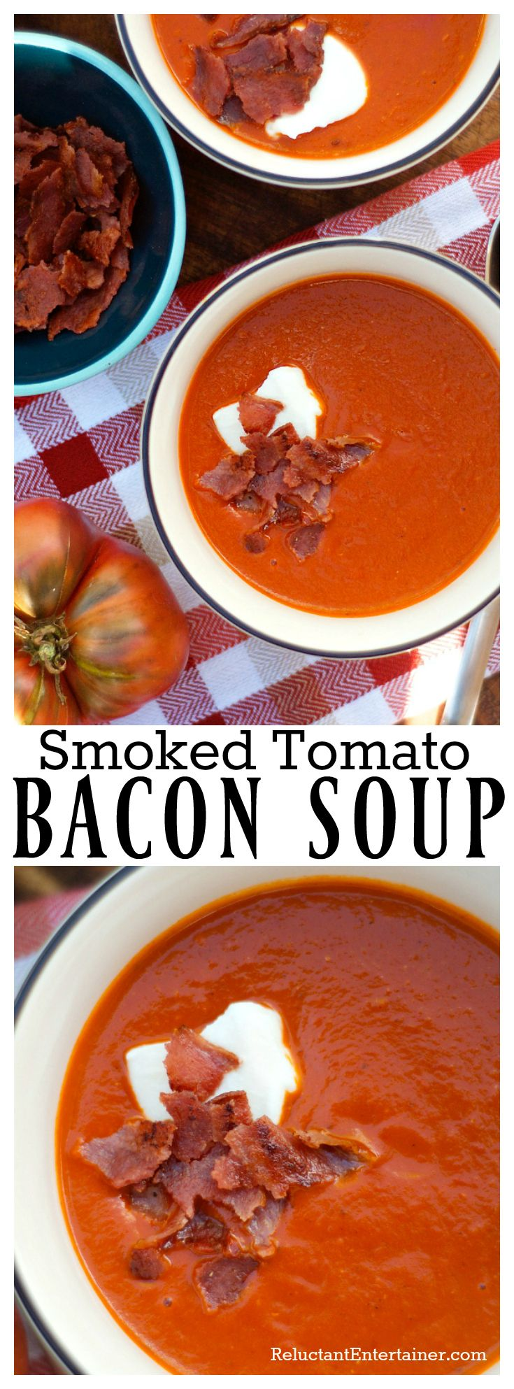 Smoked Tomato Bacon Soup