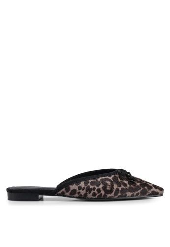 7b80ddebdeb0 Buy MANGO Leopard Leather Mules Online on ZALORA Singapore
