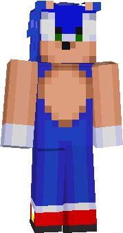 Sonic skin   minecraft skins