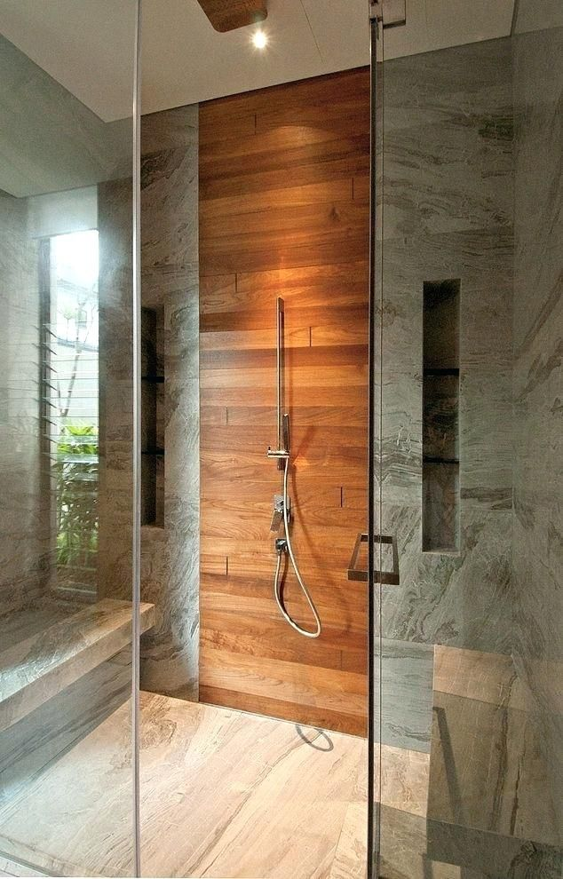 Wood Shower Walls Wood Shower Surrounds Pacmanptc Club Wood Tile Bathroom Wood Tile Shower Wooden Bathroom