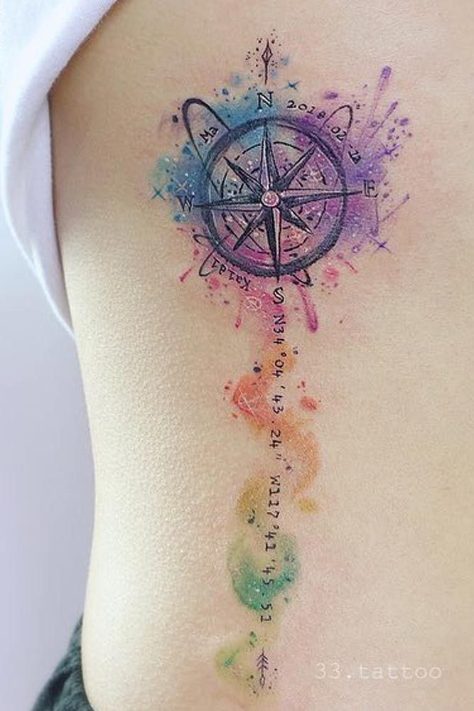 A Guide To Compass Tattoo With Cool Design Ideas Small Compass