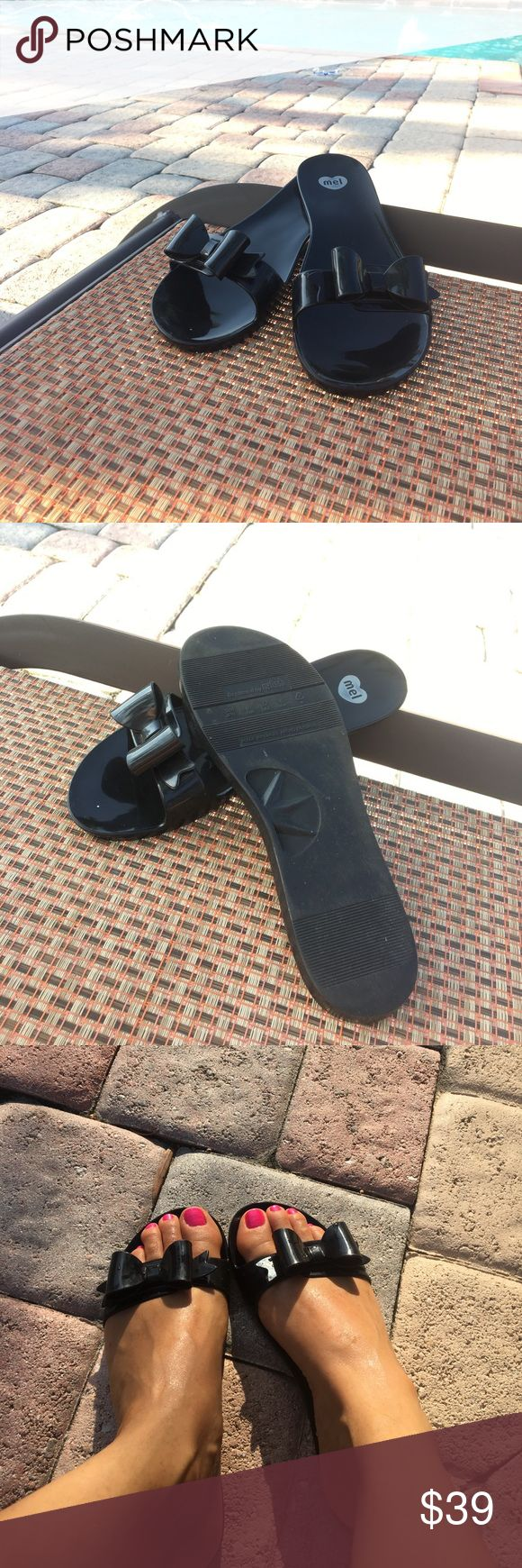 Melissa jelly bow flat sandals Great for water park,pool...and beach❤️size8 Melissa Shoes Sandals