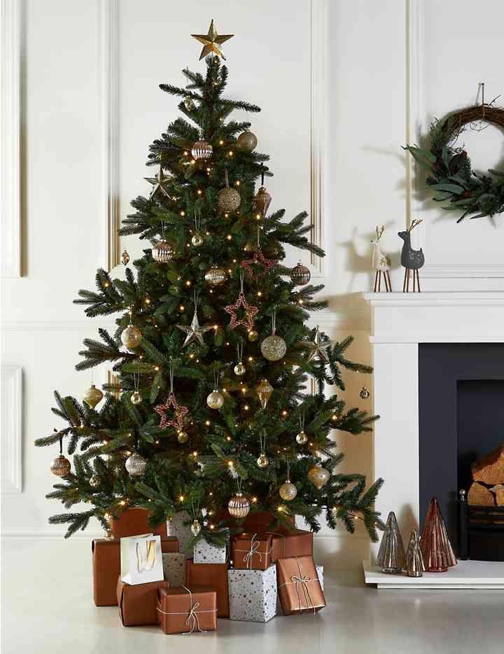 7ft lit noble fir tree christmas tree inspo 7ft