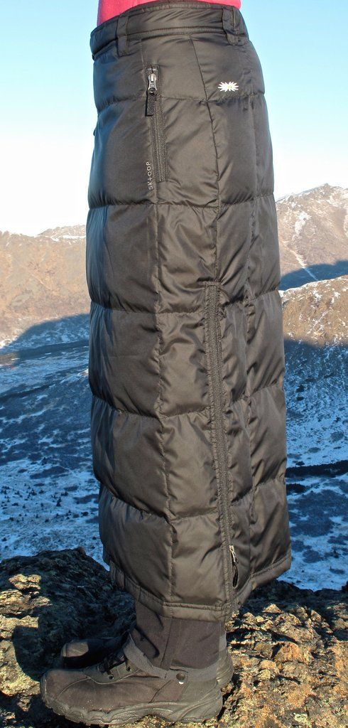 The Alaska Long Down Skirt is our warmest cover skirt. Whether the day entails ice skating, dog sledding or just walking the dog in chilly temperatures, our Al