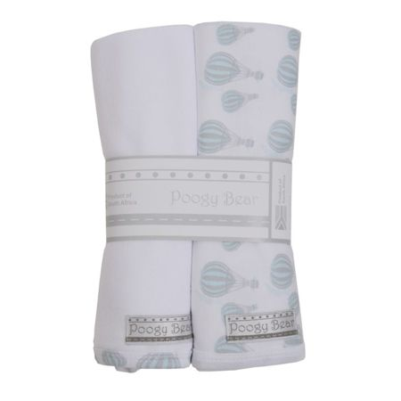 Teal Hot Air Balloon Swaddling Blanket Set | Poogy Bear Baby Clothing & Accessories South Africa