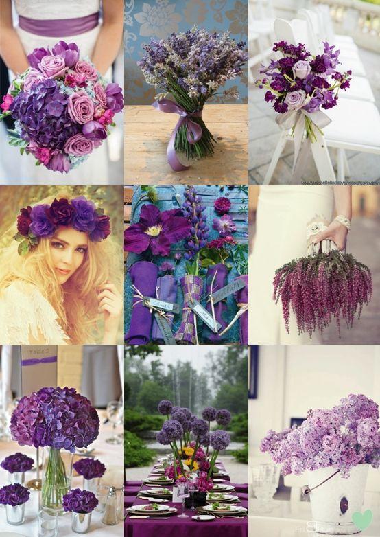 Purple Wedding Flowers Mood Board