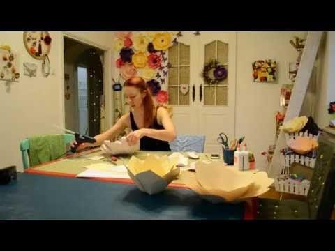 A_R Цветы из бумаги для декора!) - YouTube