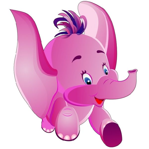 Pink Elephant And Baby Clip Art at Clker.com - vector clip ... |Cartoon Baby Elephant Pink