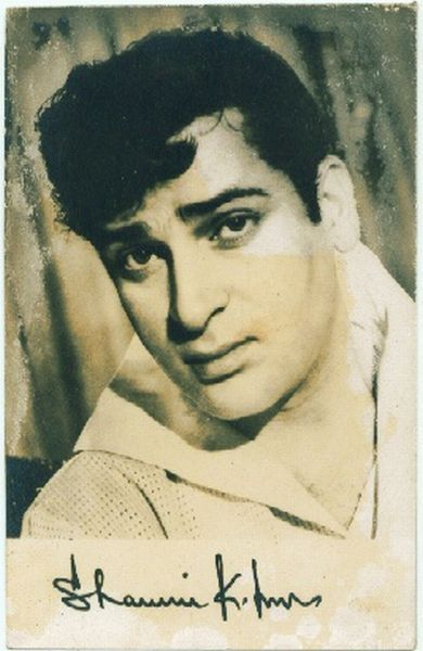 Signed Photograph of Indian Hindi Movie Actor Shammi Kapoor