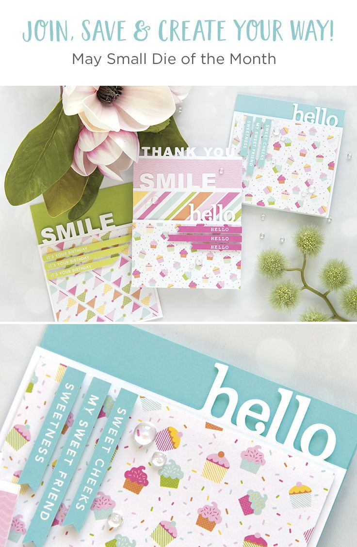 Spellbinders May 2018 Small Die of the Month is Here! | Monthly Kits