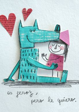 Es feroz, pero le quiero | Láminas originales | Anna Llenas