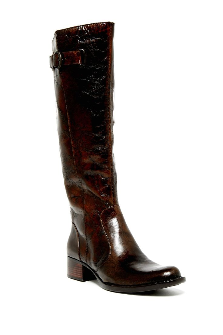born roxie knee high leather wide calf boot leather