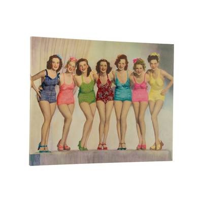 A 50's 'Retro Swimwear Canvas' is sure to brighten up any room just £3.99