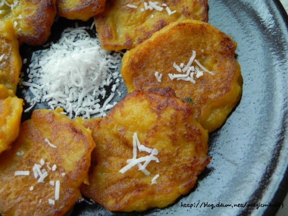 달달하고 쫀득한 단호박전 – 레시피 | Daum 요리