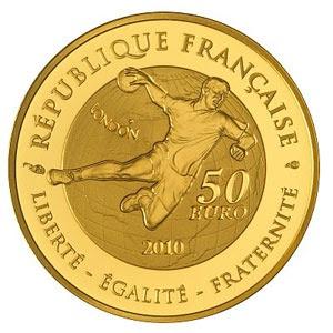Republique Francaise   Liberte - Egalite - Fraternite  50 Euro  Handball - London 2010