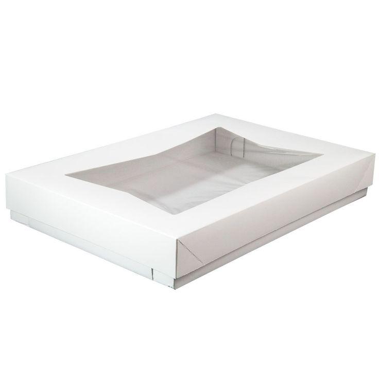 """25 7/8"""" x 18 1/16"""" x 4"""" White Full Sheet Cake / Bakery Box Bottom - 25 / Case"""