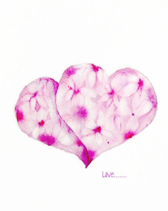 Abstract Watercolor Painting Pink Print Art by NancyKnightArt