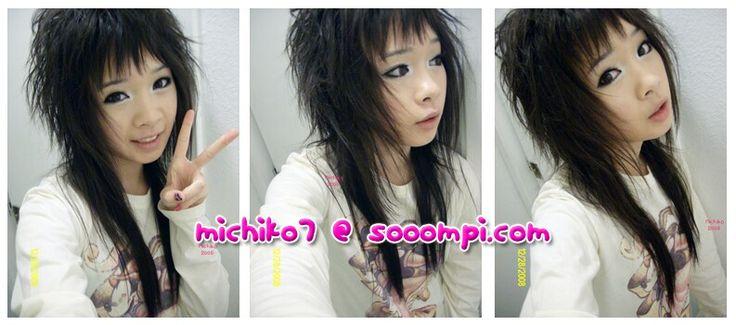 Asian mullet haircut