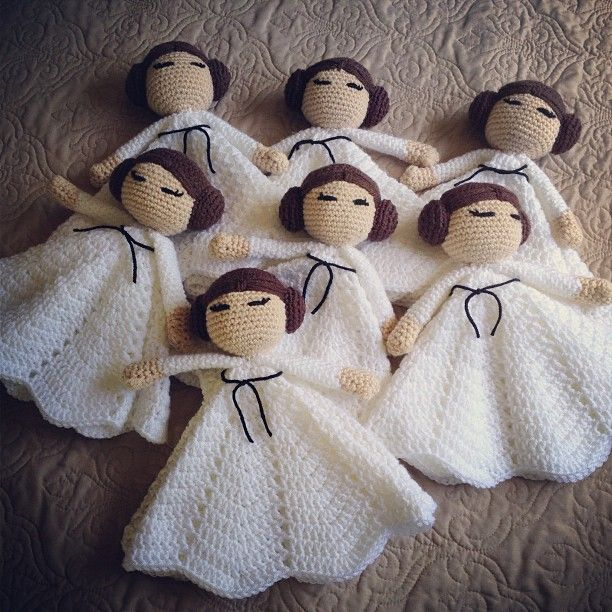 Crochet Star Wars Princess Leia Lovey - Picture Idea