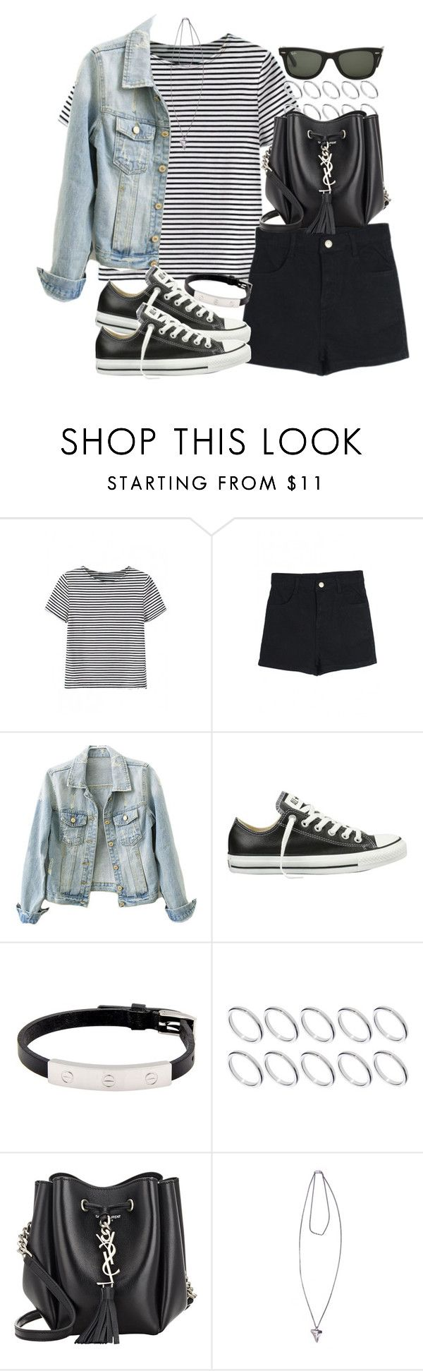 """Untitled #3423"" by hellomissapple on Polyvore featuring Converse, Cartier, ASOS, Yves Saint Laurent, Ray-Ban, Givenchy, women's clothing, women's fashion, women and female"