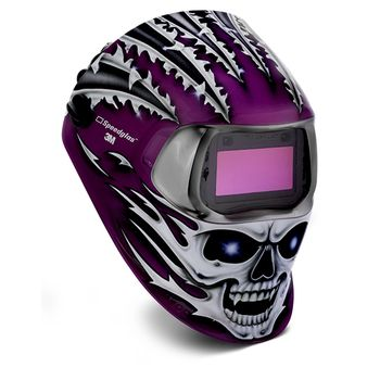 Speedglas 100 welding helmet raging skull design is an auto darkening welding helmet ideal for infrequent welders wanting clear vision