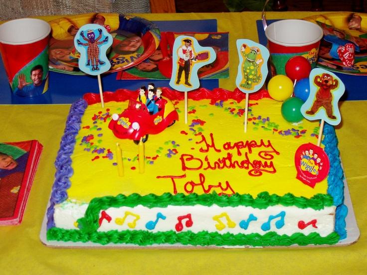 The Wiggles theme birthday cake