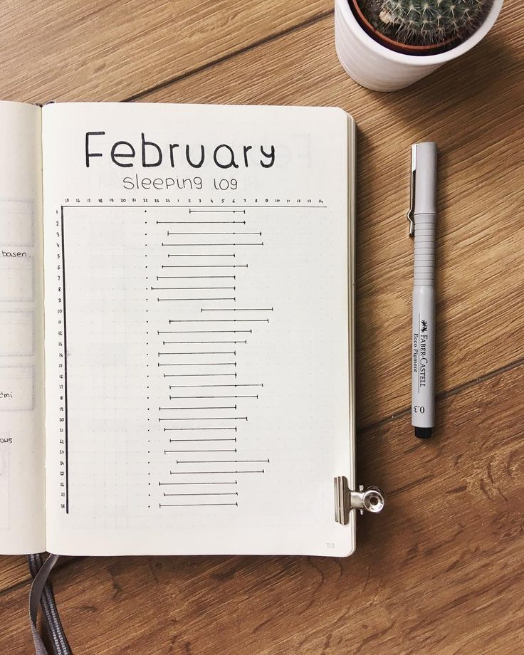 Bullet journal sleep log. | @bullet_journalish