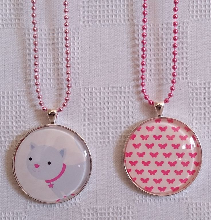 Girls 38mm glass dome necklace. Choose your own necklace colour! $12.00 each