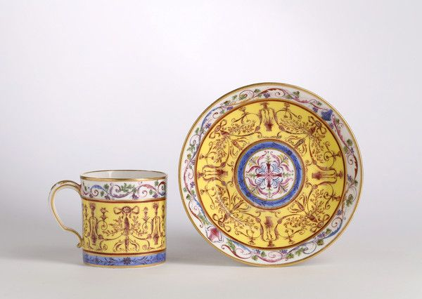 A Sèvres gobelet 'litron' and saucer of the second size (France)