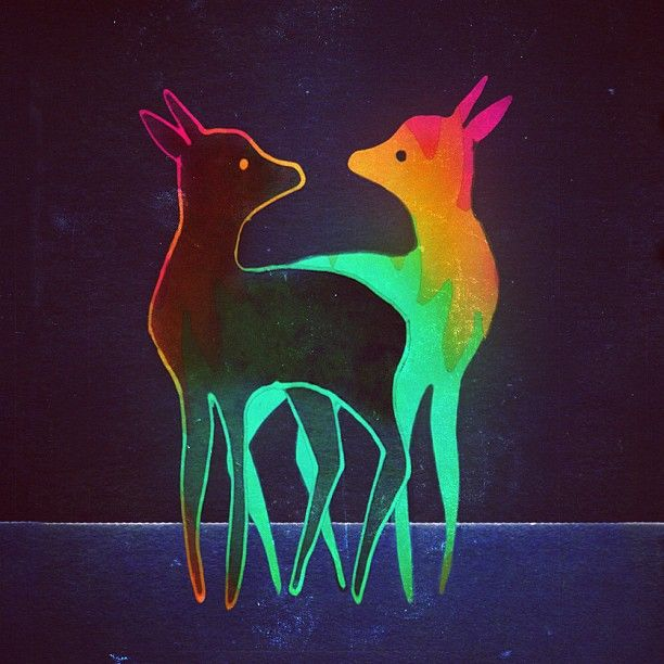 deer illustration by wirrow