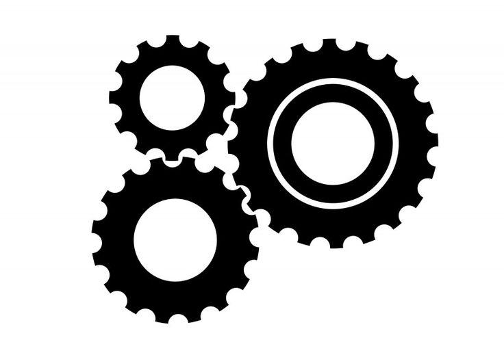 3 Black Gear Wheels Free Vector Icon | http ...