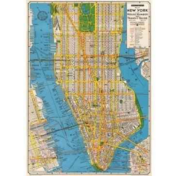 Giftwrap New York New - Bobangles #Cavallini #vintage #map #NYC #NewYork #poster #gift #stationery