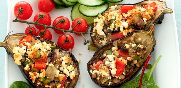 Flavoursome baked aubergines